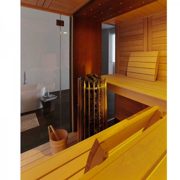 sauna edge 210 x 210 x 219 cm poolpowershop. Black Bedroom Furniture Sets. Home Design Ideas