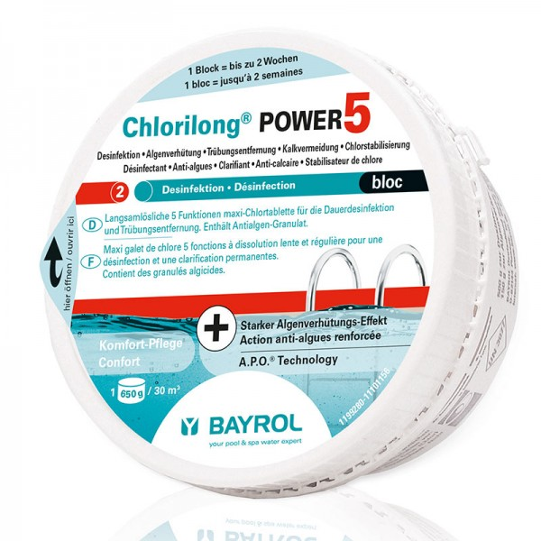 Bayrol Chlorilong POWER 5 Bloc 0,65 Kg