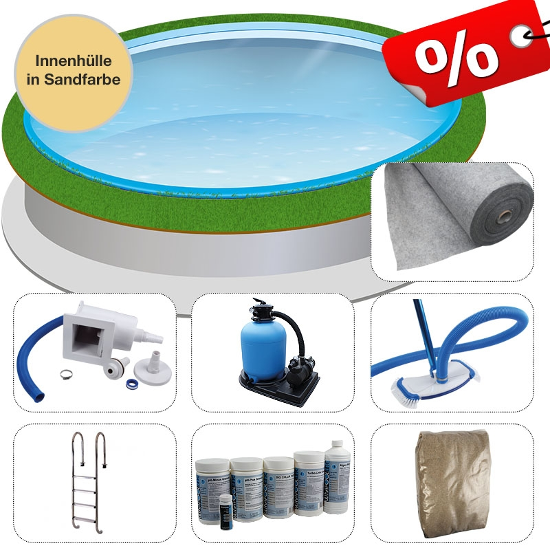 Rundpool set 6 00 x 1 35 m 0 8 mm sand eingelassen - Pool power shop forum ...