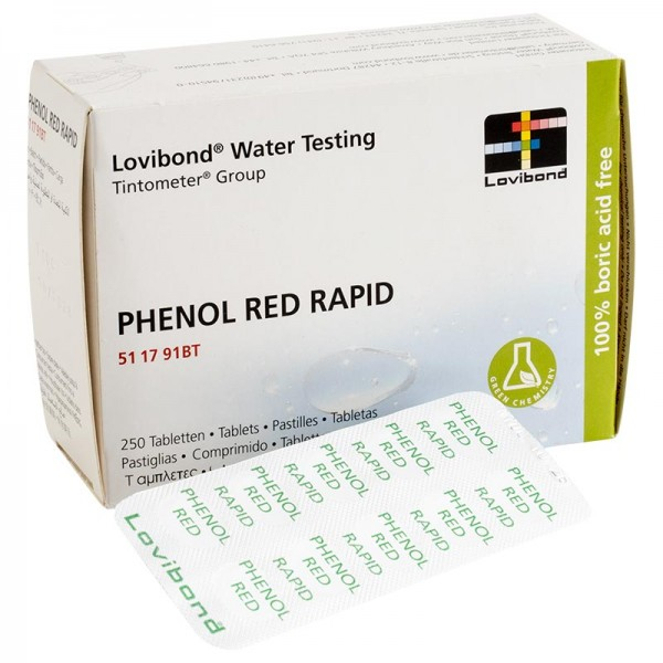 DPD Testtabletten phenolred im 250er Pack (pH) für Pooltester
