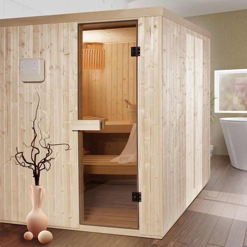 sauna kivi elementsauna 70mm fichte variante 143 0x143. Black Bedroom Furniture Sets. Home Design Ideas