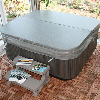 W rmeabdeckung f r jacuzzi j465 variante silver wood - Pool power shop forum ...