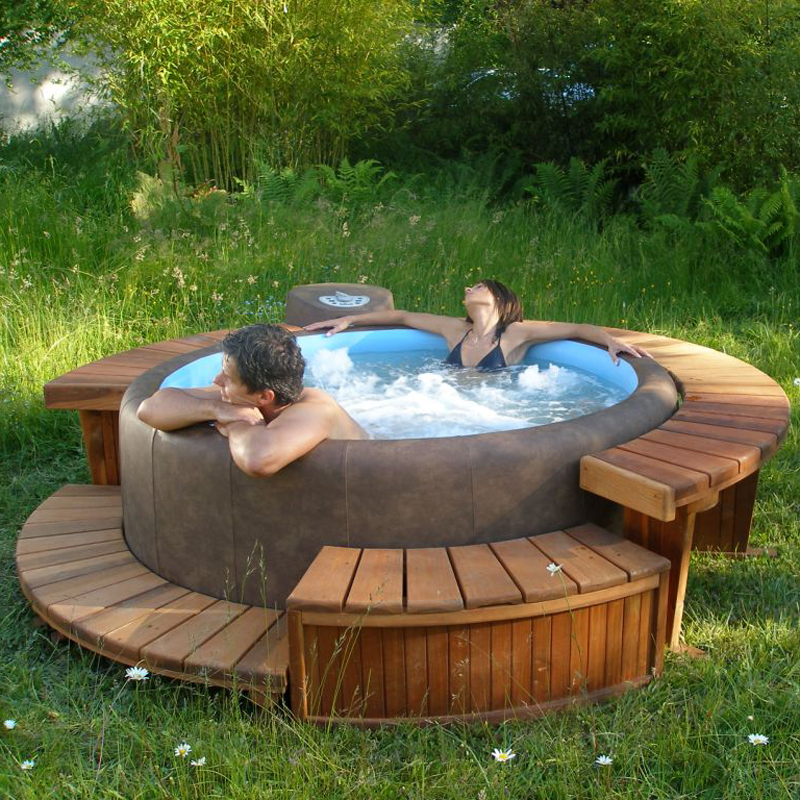 Holzverkleidung f r softub legend variante - Pool power shop forum ...